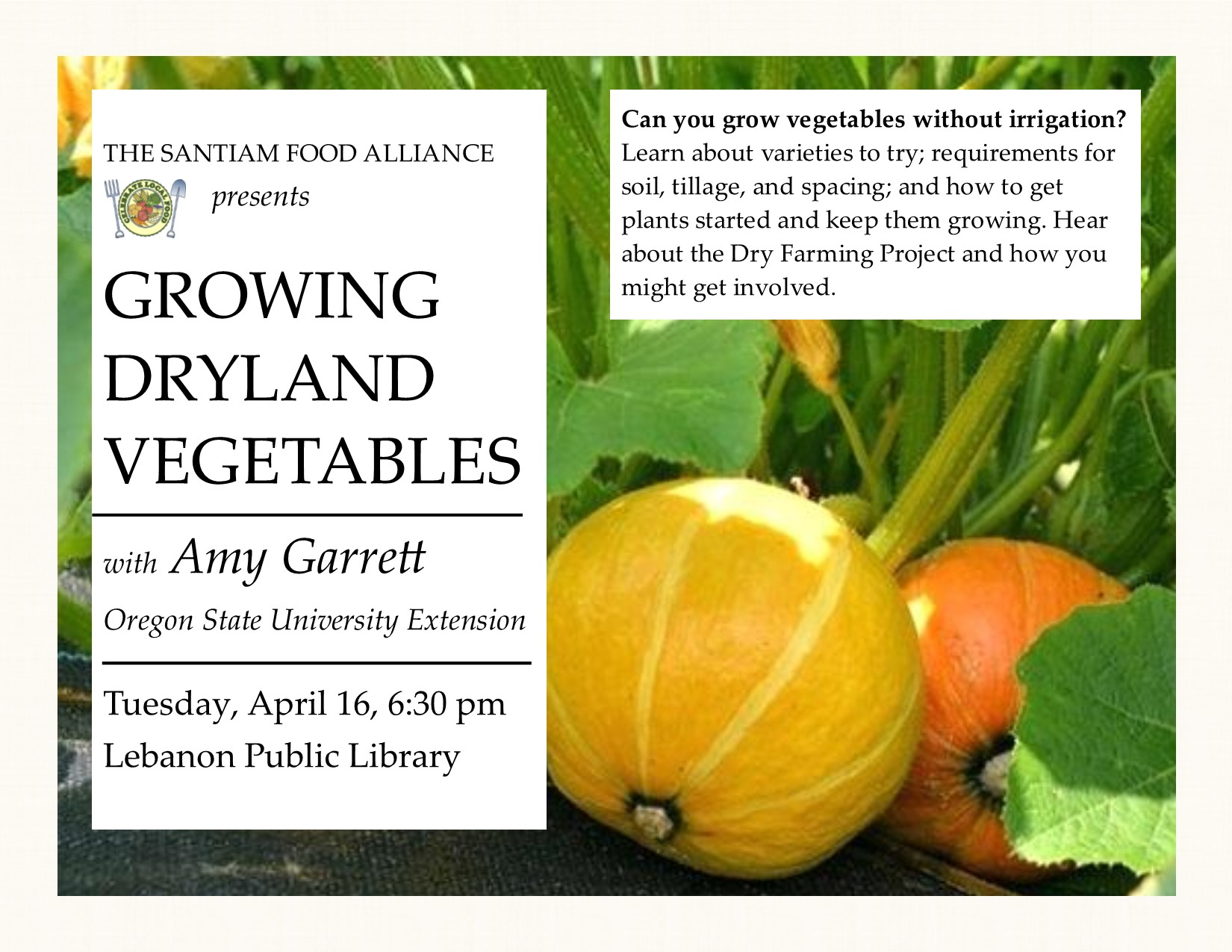 Dryland gardening flyer