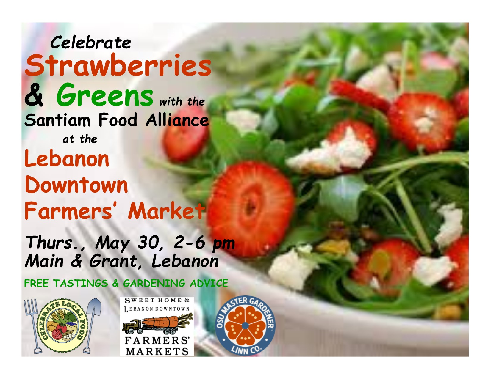 Strawberries and Greens flyer