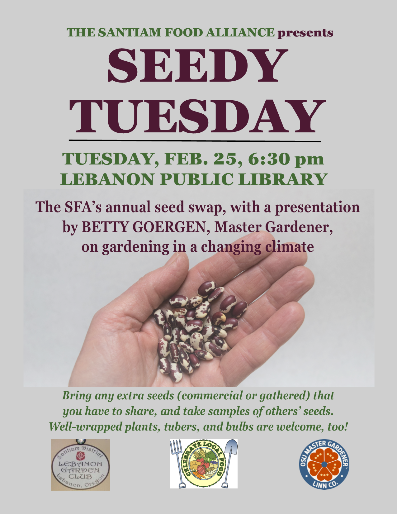Seedy Tuesday flyer 2020